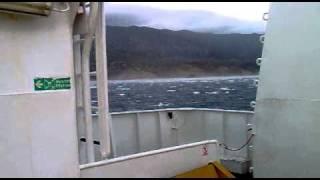 Trajekt Prizna-Žigljen bura 40 čvorova