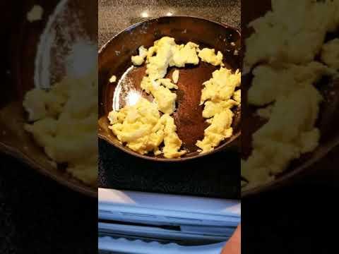 Cooking and cleaning a restored cast iron pan