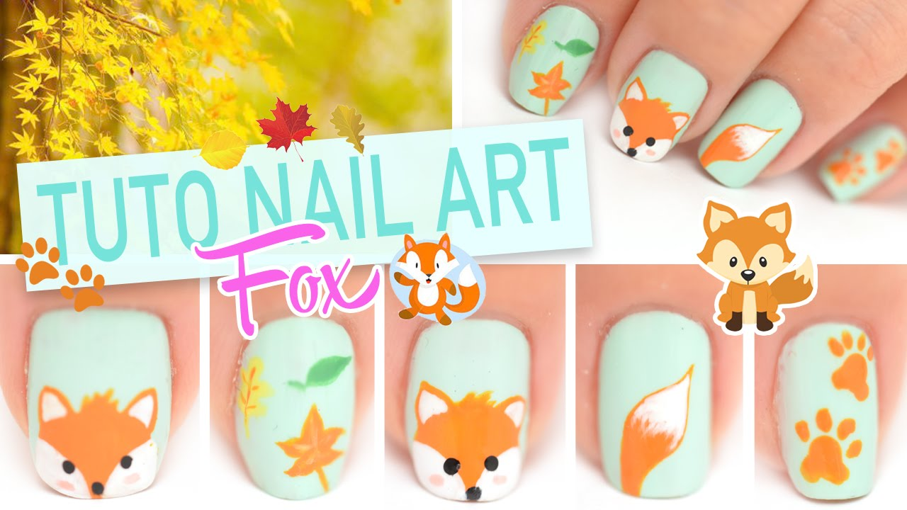 Yoko Nail Art Cupcake : Tuto Nail art ? Petit renard Fox automnale - YouTube