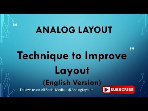 Technique to Improve Layout  - English Version