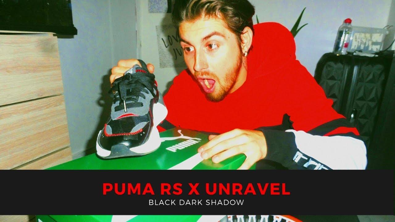 Mujer escolta Contiene  Puma RS X Unravel Black Dark Shadow Review Sneaker - YouTube