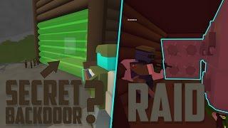 SALVAGING THEIR BASE (SECRET BACKDOOR) • Unturned Base Raid