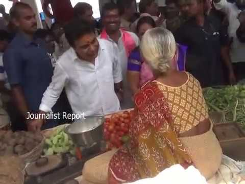Minister KTR Siricilla Tour | KTR Interact with People