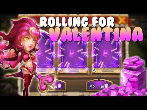 Castle Clash Rolling For VALENTINA!