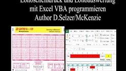 Lotto Excel VBA Zahlen in Lottoschein drucken