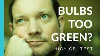 my photography bulbs are too green   high cri bulb test