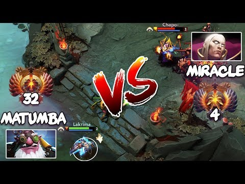 RANK 4 Miracle- Invoker vs RANK 32 MATUMBAMAN Sniper - EPIC LIQUID Mid Battle Dota 2