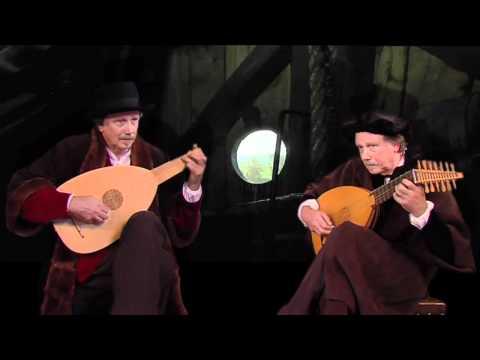 Rembrandt & Adriaen van Rijn - lute duet Dowland in postmill - LEIDEN 1650