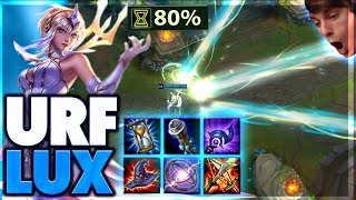 ZERO SECOND COOLDOWN ULTIMATE | URF LUX FULL GAMEPLAY - BunnyFuFuu