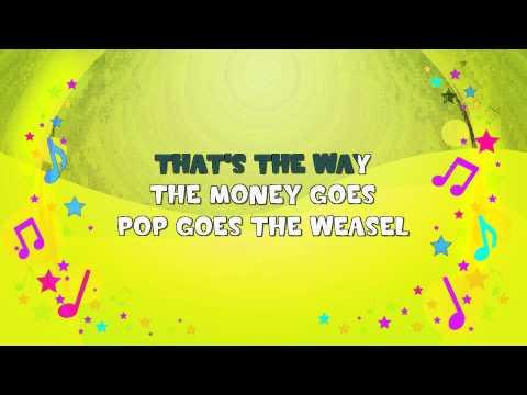 Pop Goes the Weasel | Karaoke | Nursery Rhyme | KiddieOK