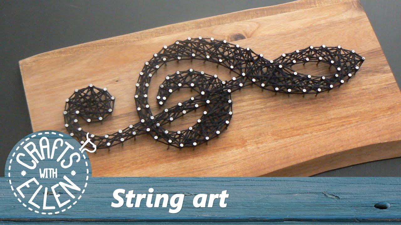 How To Make String Art Tutorial Youtube