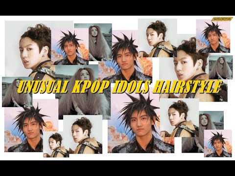 Kpop Idols with Unusual Hairstyle (Super Random 1 minute Video)