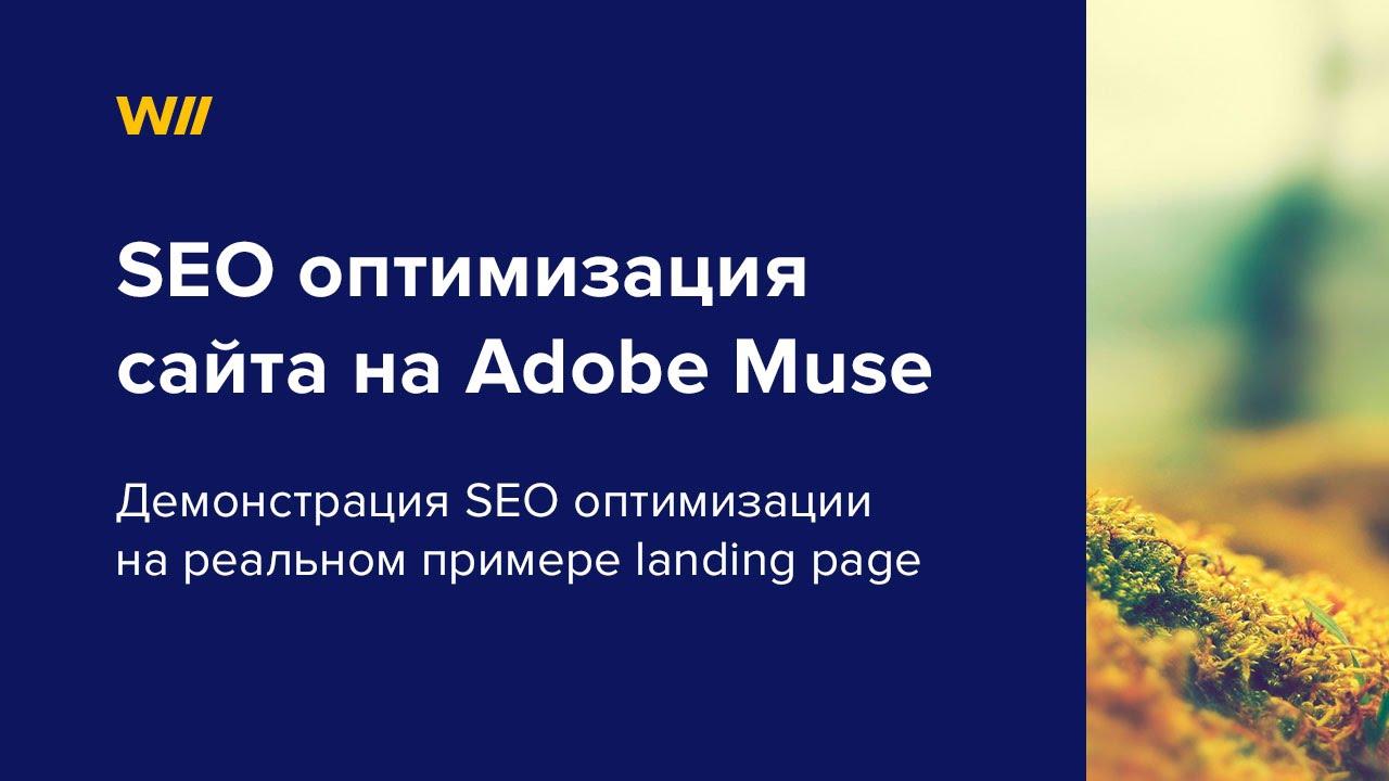 Seo оптимизация в muse признаки рекламы в интернете