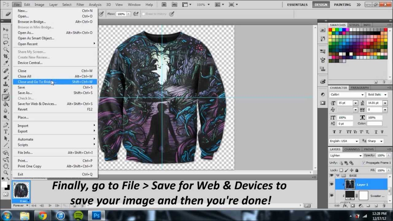 TUTORIAL: HOW TO MAKE A CUSTOM CREWNECK IN PHOTOSHOP - YouTube