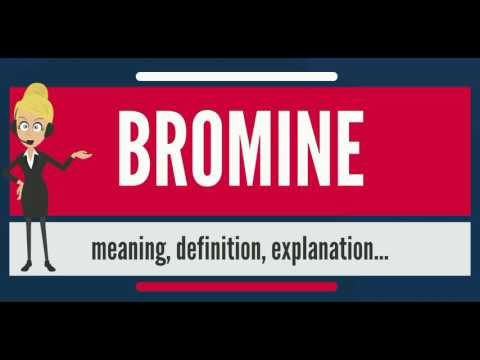 What is BROMINE? What does BROMINE mean? BROMINE meaning, definition & explanation