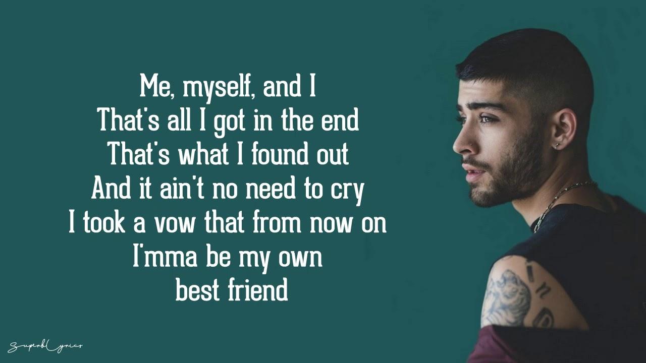 Zayn Me Myself And I Lyrics Youtube