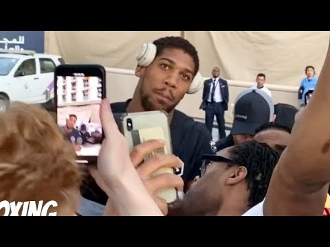Download ANTHONY JOSHUA MOBBED BY FANS IN SAUDI ARABIA FOR REMATCH vs ANDY RUIZ FLASHBACK TO 🇸🇦