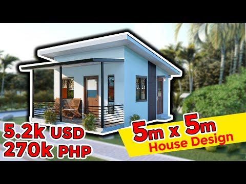 5 meters by 5 meters One-story Simple House Design