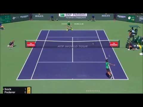Roger Federer vs Jack Sock (Beautiful Federer forehands)