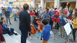 Fidel Fourneyron avec l harmonie municipale d Orthez