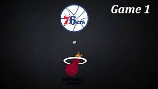 Roblox NBA|| Philadelphia 76ers @ Miami Heat || Game 1 Part 1(Read DESC)