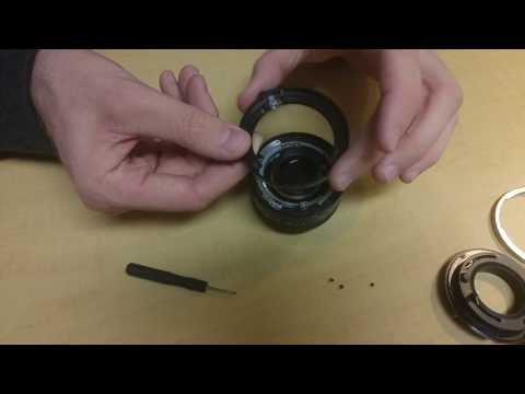 Canon FD Prime Lens Rear Dissasembly and Reassembly Guide