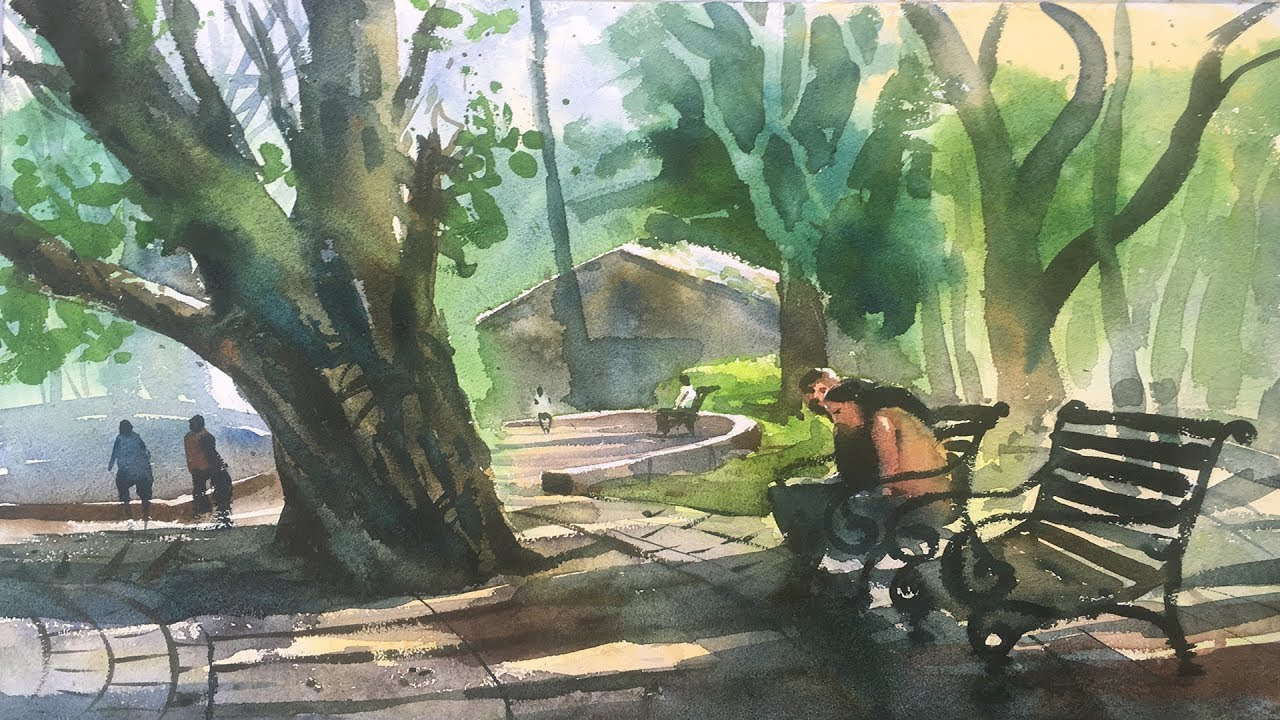 Watercolor painting at powai garden watercolor tips and for Watercolour tips and tricks