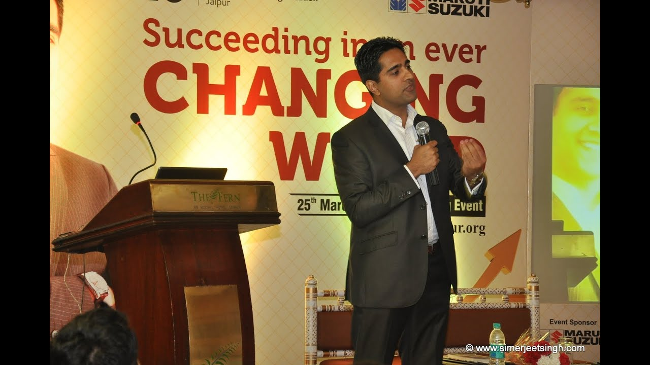 Motivational Speaker India Simerjeet Singh - Session Previews and Video Showreel (in english)