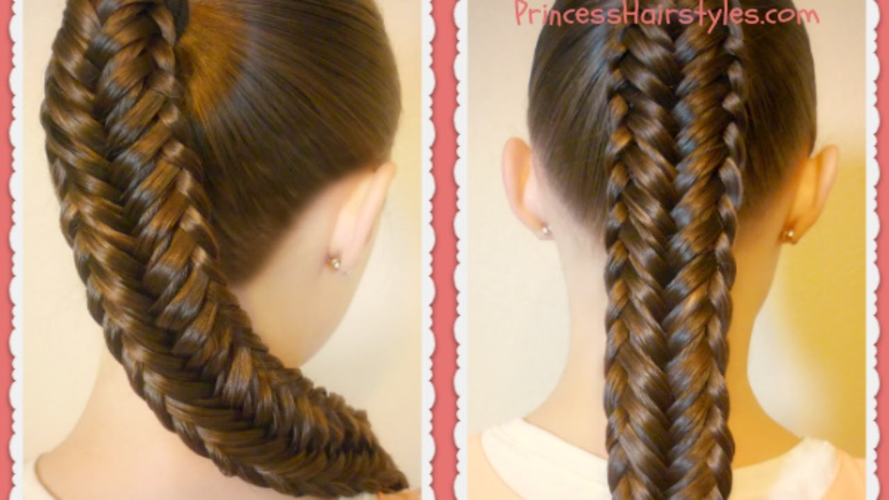 Twisted Edge Fishtail Braid, Hair Tutorial - YouTube