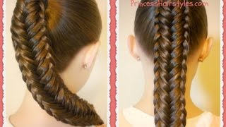 vuclip Twisted Edge Fishtail Braid, Hair Tutorial