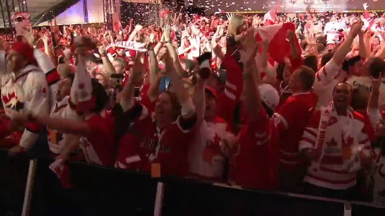 Molson Canadian Hockey House - The crowd erupts at the overtime winner by Crosby. OLYMPIC GOLD!!!