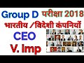 Target Group D /Current Affairs / CEO/MD 2018 latest /