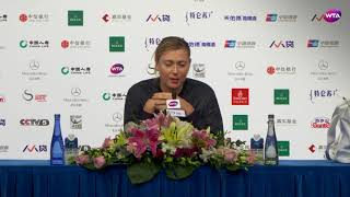 Beijing post-match press conference: Maria Sharapova 'I didn't give in'