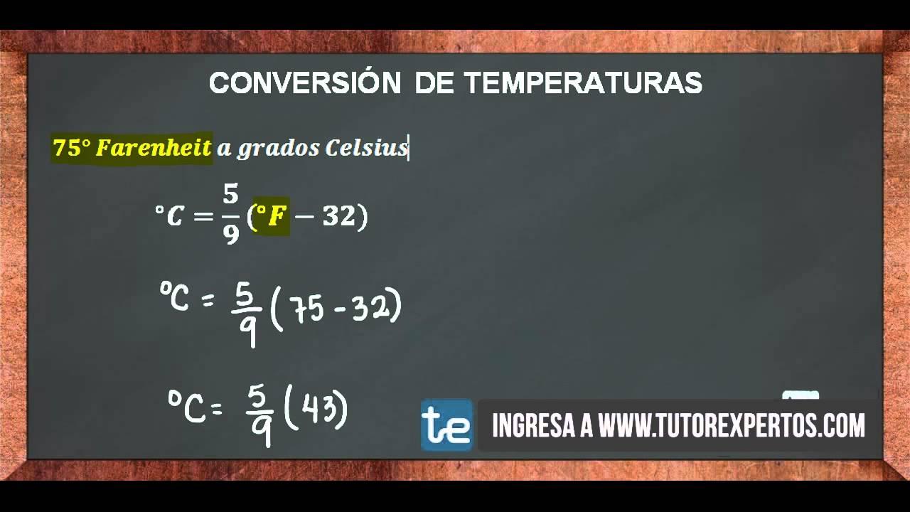 Conversion de Temperaturas No. 1 - YouTube