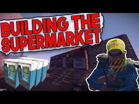 Building A SUPERMARKET In RUST | Rust SUPER SHOP Series - Episode 1