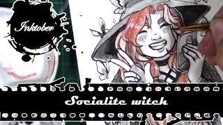 Inktober - The Socialite witch