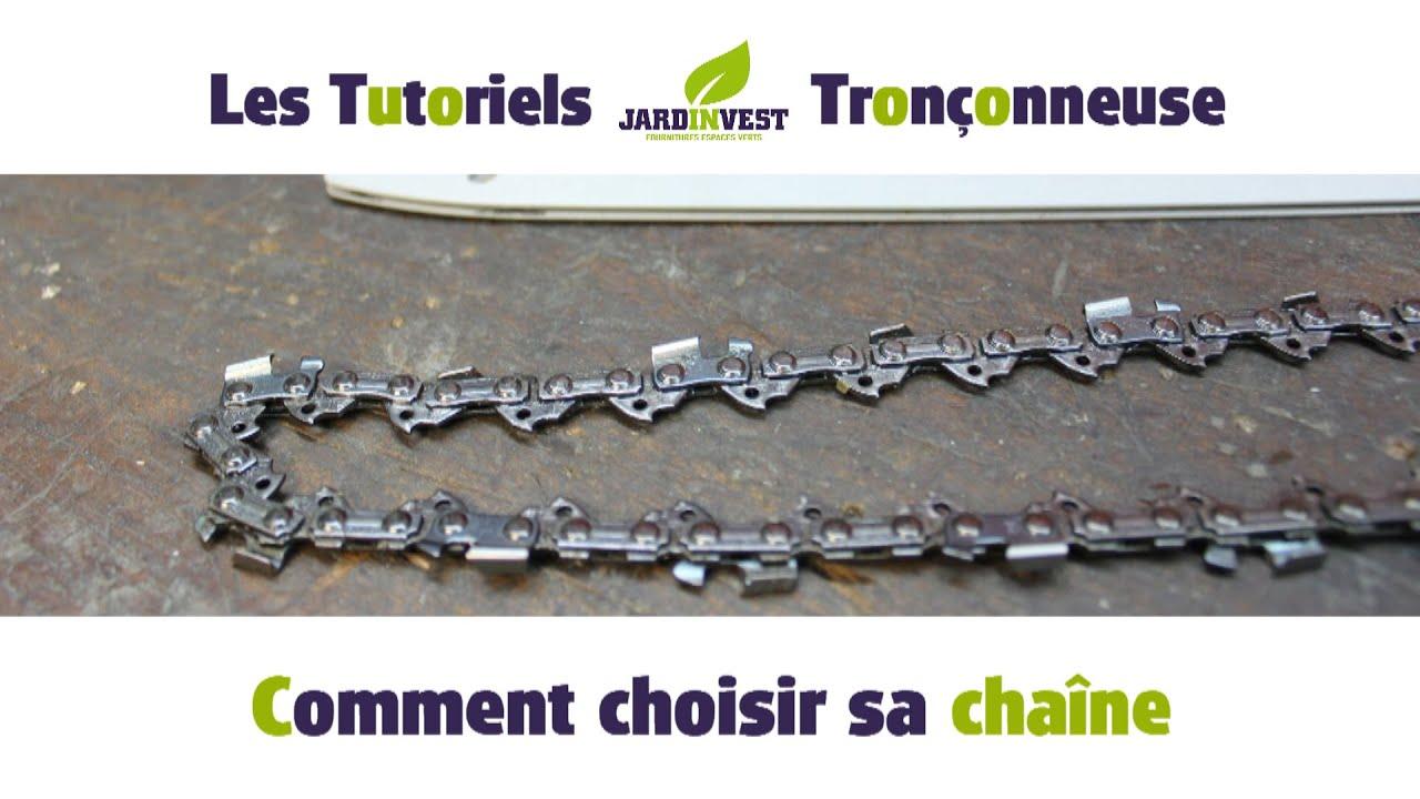 Tutoriel tron onneuse n 2 comment choisir sa chaine de tronconneuse sur youtube - Comment affuter une chaine de tronconneuse ...