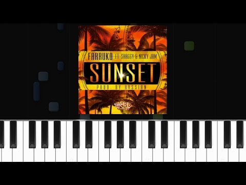 Farruko - ''Sunset'' ft. Shaggy, Nicky Jam Piano Tutorial - Chords - How To Play - Cover