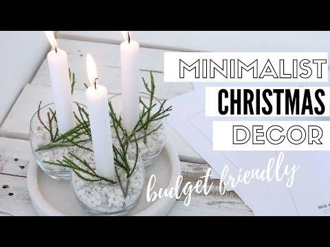 DIY Minimalist Christmas Decorations | Christmas 2017