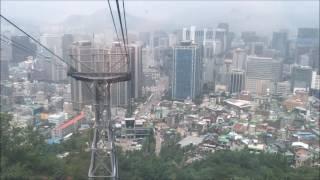 남산 N서울타워 케이블카 탑승(N Seoul tower cable car)