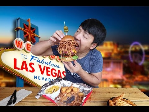 Thumbnail: ALL YOU CAN EAT BBQ in Las Vegas! BIGGEST Burger EVER!