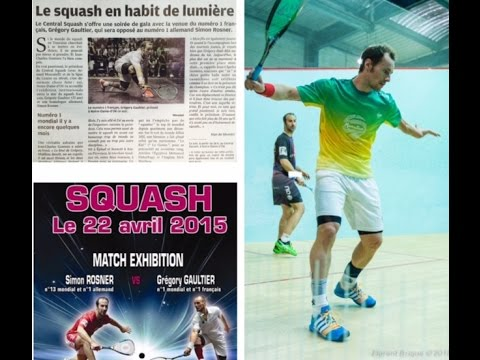 Squash Exhibition Gaultier Rosner - Central Squash Tours - France