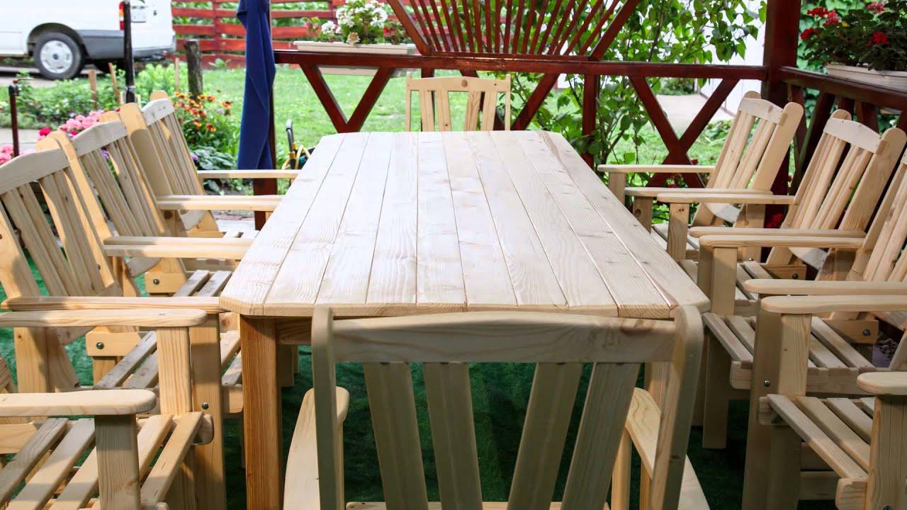 Kerti asztal készítés házilag