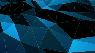 BLUE polygonal geometric surface 60fps || free animated motion background|| HD