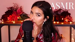 ASMR Extra Closeup Whispering (+ Soft Mic scratching, Mouth Sounds, Trigger Words)