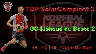 TOP/SolarCompleet 2 tegen Groen Geel/IJskoud de Beste 2, zaterdag 14 december 2019