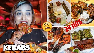 I Ate KEBABS For 24 HOURS CHALLENGE - Cooking CHICKEN TANGDI KEBAB | Chicken Eating Challenge INDIA