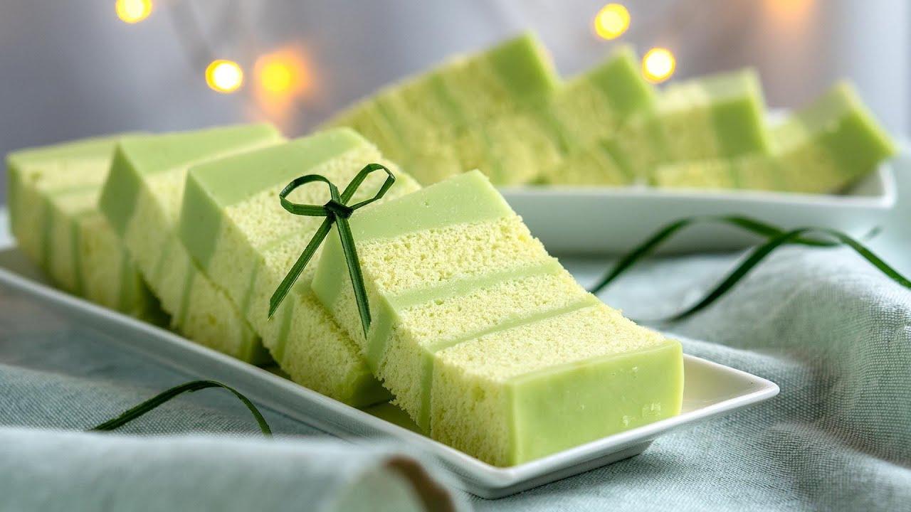 香兰千层蛋糕 | 果冻蛋糕 | 母亲节蛋糕 🎂 Pandan Layer Cake | Jelly Cake | Mother's Day [小雁/我的爱心食谱]