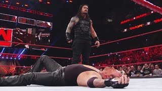 WWE RAW 20 March 2017 | Roman Reigns Takes Down The Undertaker and Braun Strowman