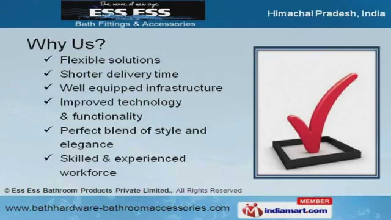 Bathroom fitting suppliers - Bathroom Fittings By Ess Ess Bathroom Products Private Limited Chandigarh